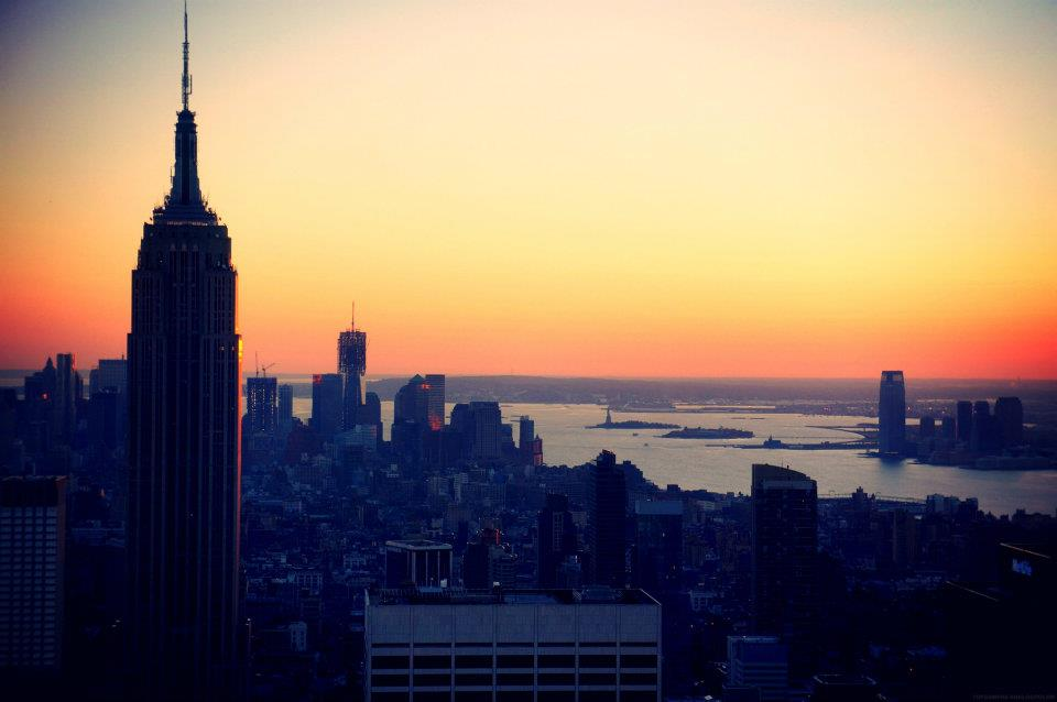 empire state building sunset - photo #36
