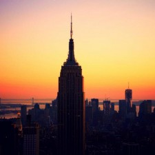 The Empire State Building At Sunset
