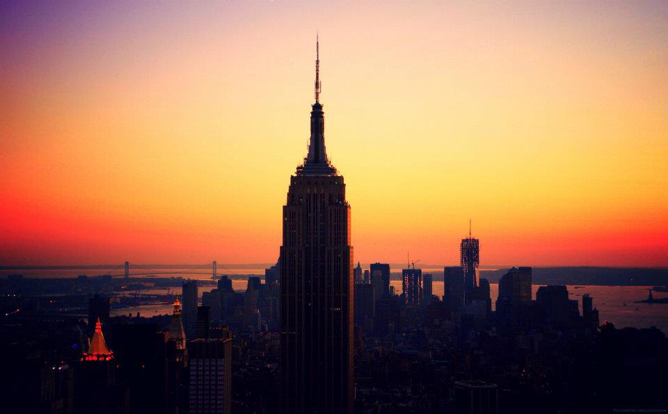 empire state building sunset - photo #10