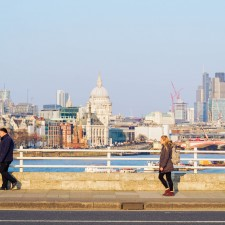 The first glimpse of spring in London